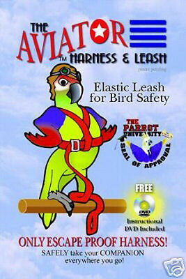 X-Small Aviator Bird Harness Leash Birds FlyTrain Assorted Colors Avian Safety