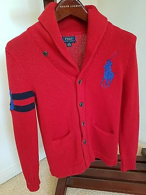 AS NEW Ralph Lauren Boys Size Small 8 Cardigan RRP. $169