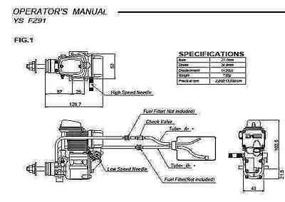Ys 91 Ac Ys9Ac Supercharged 4 Stroke Engine Owner Instruction Manual