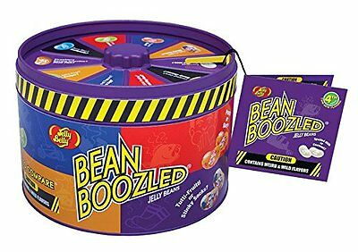 Jelly Belly Beans Boozled Tin Can with Spinner Wheel Game weird & wild Flavors!!