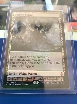 Magic The Gathering # Godless Shrine Expedition - Foil Mythic 011 / 045 Land Mtg