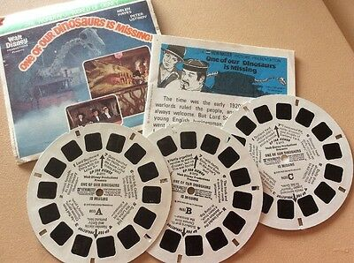 "View-Master 3 Reel Set ""Walt Disney's ONE OF OUR DINOSAURS IS MISSING"""