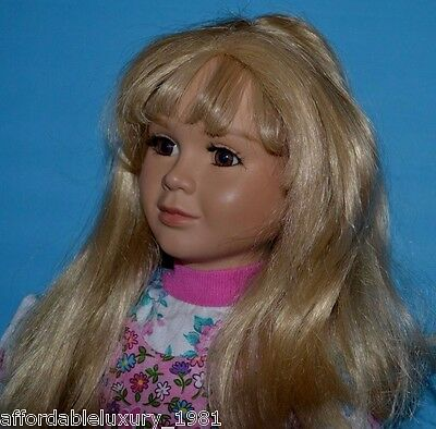 """1999 MyTwinn 23"""" Doll w/ 2 WIGS: BLONDE & BRUNETTE & Extra Outfit ~ Retired"""