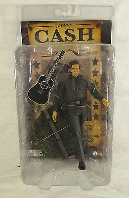 "JOHNNY CASH Figure WALK THE LINE Man In Black SOTA TOYS 7"" Tall w/GUITAR"