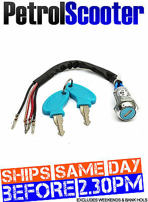Ignition Key Switch Fits Electric E Scooter Also G Petrol Scooter 2 Keys 2 Click