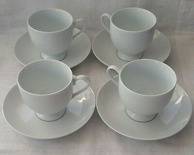 Mikasa Classic Flair K1991 Footed Cup and Saucer set of 4 Free Post