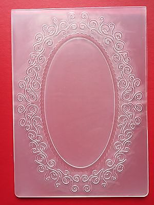 NEW• OVAL FRAME EMBOSSING FOLDER For Cuttlebug Or Sizzix