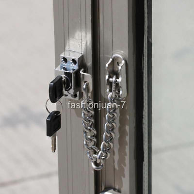 Sliding Door Window Chain Locks Children Safety Protection Limit Anti-theft Lock