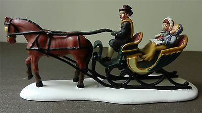 DEPARTMENT 56 Seasons Bay Afternoon Sleigh Ride Carriage and Horse Figurine