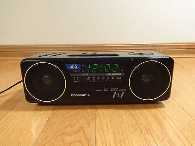 Panasonic RC-X210 Stereo Alarm Clock Radio TESTED 100% Works Great! Clean VTG