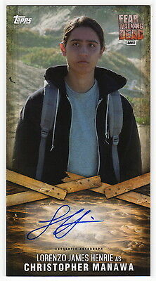 2017 Fear The Walking Dead Lorenzo James Henrie as Chris Manawa Autograph Card