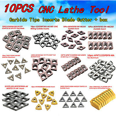 48 kind of Type CNC Carbide 10X Insert Blade Cutter Lathe Turning Tool With Box