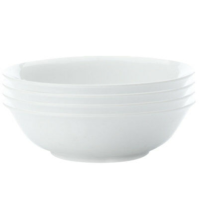 4pc Set Maxwell & Williams White Basics Soup Pasta Bowl 20cm Tableware/Porcelain