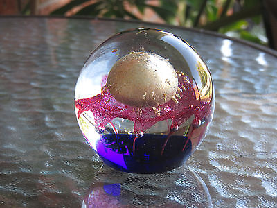 Georgeous Art Glass Paper Weight Lanshing Pty Ltd With Label