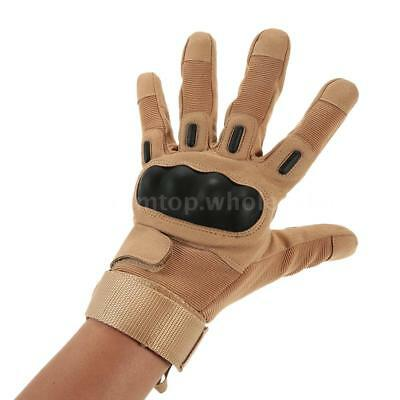 Hard Knuckle Full Finger Tactical Gloves Shooting Cycling Hunting Riding G8X8