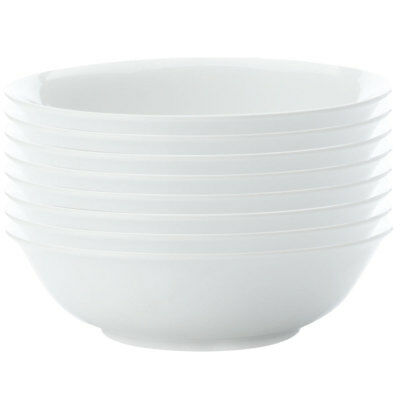 8pc Set Maxwell & Williams White Basics Soup Pasta Bowl 20cm Tableware/Porcelain