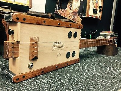 Buzz Box Cigar Box Guitar - Fully Fretted