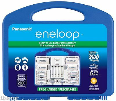 Panasonic Eneloop Power Pack AA AAA Rechargeable Battery Supply Charger Set