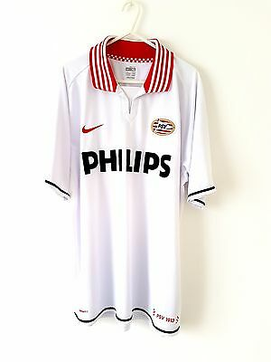 PSV Eindhoven Away Shirt 2007. XL. Nike. White Adults Short Sleeves Football Top