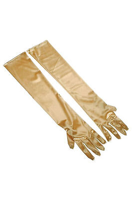 Long Gold 1920's Elbow Length Evening Gloves 20's Costume Accessory