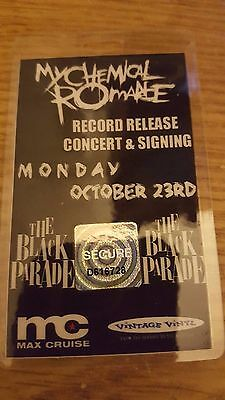 My Chemical Romance The Black Parade Release Concert Pass