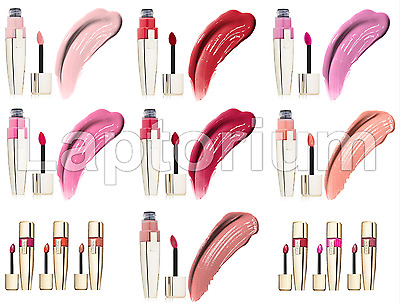Original L'OREAL Colour Caresse Wet Shine Stain Lip Gloss In Various Shades New