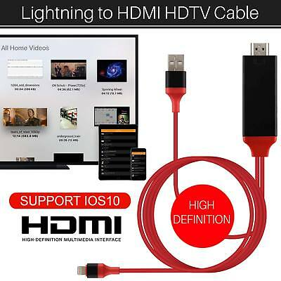 New 2M 8 Pin Lightning to HDMI TV AV Adapter Cable for iPhone 5 6 6S 7 7 Plus UK