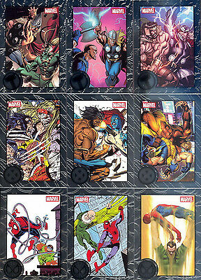 2013 Rittenhouse Marvel Greatest Battles 90 Card Silver Foil Base Set +Empty Box