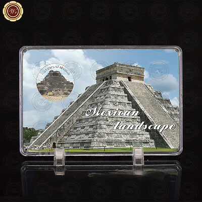 WR Wonders of Mexico Chacchoben Design Mexican Silver Coin Collection /w Display