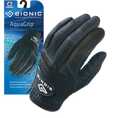 2 X Bionic Womens Aqua Grip Golf Gloves. Microfibre Suede for Wet Weather Grip