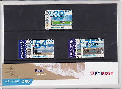 Netherlands Stamp pack 2001 TO EURO