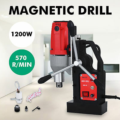BRM35 Magnetic Drilling Machine Mag Drill 35mm Twist Drills 570RPM Compact
