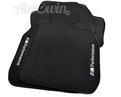 BMW 5 Series E60 E61 LCI Black Floor Mats with M Performance TAILORED 2003-10