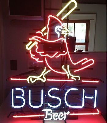 "New Busch Beer St Louis Cardinals MLB Neon Sign 17""x14"""