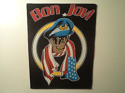 Vintage  BON JOVI  80s Unused BACK PATCH   heavy metal skid row dio ozzy shirt t