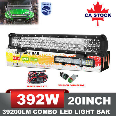 "20"" inch 392W LED WORK LIGHT BAR FLOOD SPOT COMBO OFFROAD 4WD SUV VS 126W 294W"