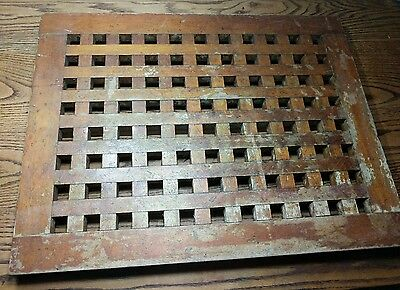 Authentic Wood Grate From Salvaged Ship