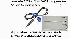 Kit Cavo aux Fiat Panda 2012 a 2015 radio Continental (no source available) 1,4m