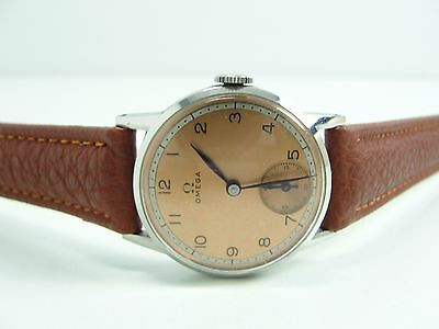 Vintage Omega Handaufzug Extra Sekunde Copper Dial Medium Watch Orologio Top