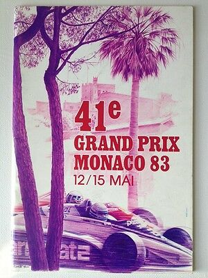 1983 41e Monaco Grand Prix F1 Race Program - 12 May - 15 May - EX condition!