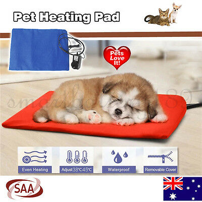 Pet Heating Pad Cat Dog Puppy Warm Bed Electric Heated Mat Blanket Waterproof AU