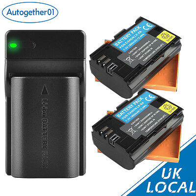 USB Charger+ 2x Battery For Canon LP-E6 LPE6 EOS 60D 7D 5D Mark II  III UK RML