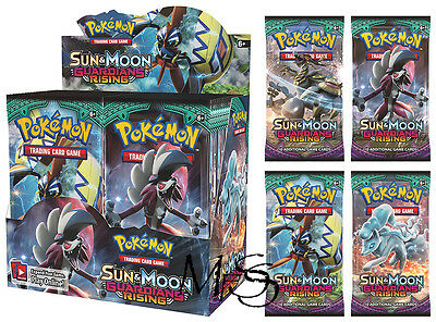 Pokemon Sun and Moon Guardians Rising Booster Box 36 Packs * Brand New *