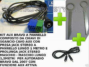 KIT MP3 AUX iPod Iphone galaxy S2 S3 ingresso SOLO AUDIO FIAT BRAVO a pannello