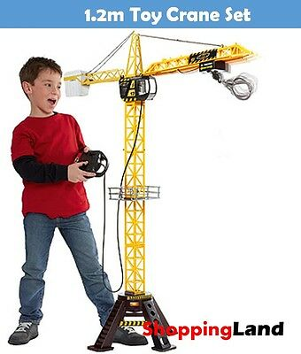 1.2m Toy Crane High Rise Tower Construction Crane Remote Control Indoor Outdoor