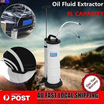 9L Capacity OIL SUCTION VACUUM CHANGER EXTRACTOR FLUID PUMP TRANSFER OIL FUEL