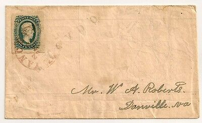 Civil War CONFEDERATE MAP ADVERSITY Cover CSA 12 HUGE MARGINS RED YANCEYVILLE NC