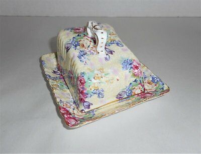 Vintage Royal Cotswold By J. Godinger Chintz Cheese Keeper Butter Dish