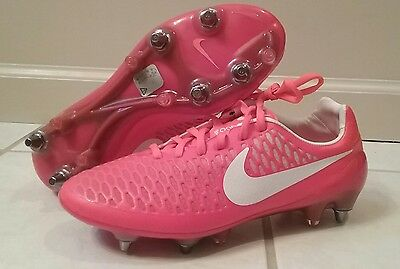 Nike Magista Opus SG-Pro Soccer Cleats Bright Crimson Womens Sz 13 749696-600