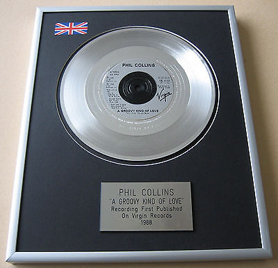 PHIL COLLINS A Groovy Kind Of Love PLATINUM DISC PRESENTATION